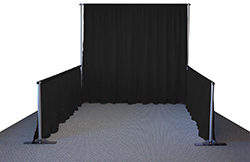 Trade show pipe and drape backdrop