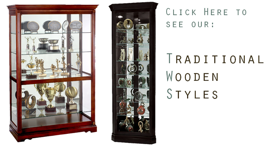 POS wooden showcases
