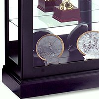 traditional wood trophy cabinet