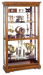 wooden trophy case with traditional appearance