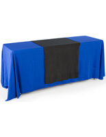 Black Plain Table Runner for Trade Shows