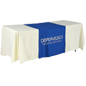 "Metallic Lettering 30"" Blue Table Runner - Full Drape"