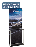 Trade Show Banner Kiosk with Labeled Poles