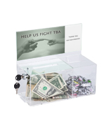 Clear Charity Box with Treat Compartment