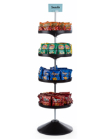 4 Tiered Spinning Tray Display Stand