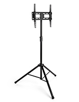 Portable TV stand with tripod legs for flat panel LCD, LEDs
