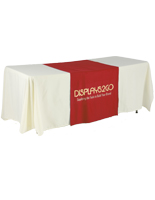 "Metallic Lettering 30"" Red Table Runner - Flame Retardant Cloth"