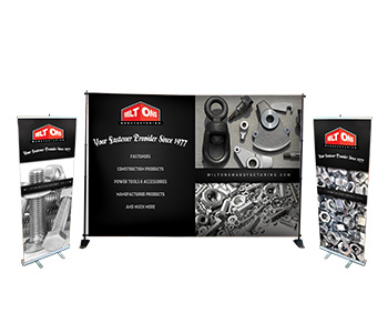 Custom printed display packages including banners, backdrops, and more.