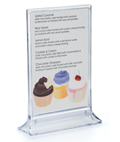 4 x 6 Acrylic Displayette for Restaurants