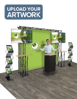 Truss trade show display with versatile configuration