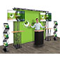 Truss trade show display with carrying case included
