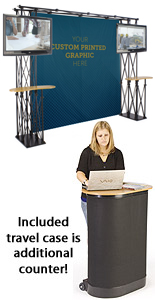 8 x 8 Truss Trade Show Booth Backdrop