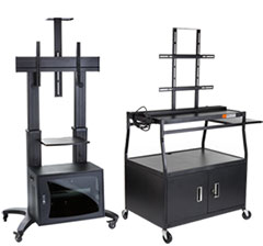 Audio Visual Carts with Flat Screen Mount