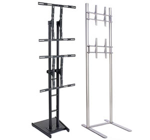 dual monitor floor stand