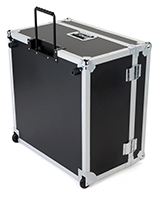 Trade show floor tile carrying case with open lid
