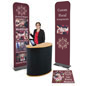 Economy banner display booth kit for trade shows