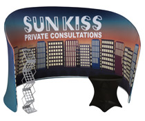 Modular curved display booth divider wall kit