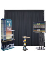 4 piece inline exhibit booth kit