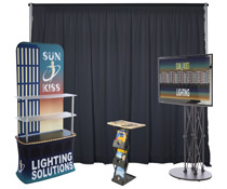 Modular inline exhibit booth kit