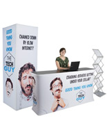 Inline exhibit booth set with custom printing
