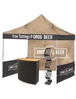 3 piece outdoor booth setup
