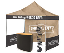 Modular outdoor booth setup