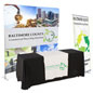 Banner and tabletop trade show package with retractable signage