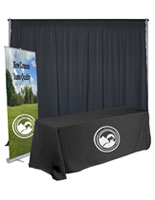 Economy exhibit booth furniture kit with custom graphics