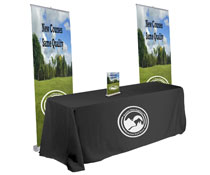 Pop up banner trade show kit with 2 stands