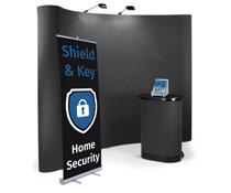 Trade show display booth kit with portable design