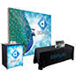 10' trade show booth kit with portable components and carry cases