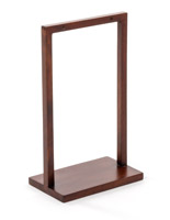 5 x 7 deep brown menu holder wooden tabletop stand