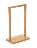 5 x 7 maple wooden double post menu holder