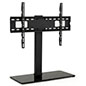 26 inch x 11 inch universal tabletop tv stand with steel and tempered glass construction