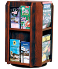 Countertop Rotating Wooden Literature Holder