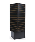 4-Sided Revolving Slatwall Display Tower