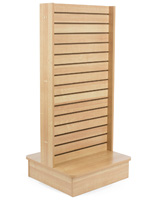 Slatwall Panel Kiosk with Maple Finish
