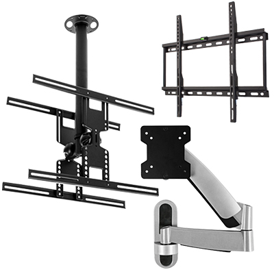 wall and ceiling flat screen mounts