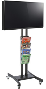 Double Sided TV Stand with 4 Clear Literature Pockets for Trade Shows