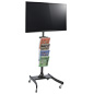 LCD TV Stand with 4 Acrylic Literature Pockets for Periodicals