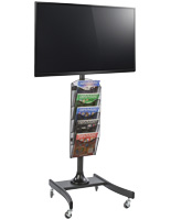 LCD TV Stand with 5 Mesh Literature Compartments for Special Events
