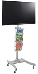 LED TV Stand with 4 Acrylic Literature Pockets for Schools