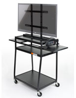 TV Carts with Wheels for Audio Visual Devices