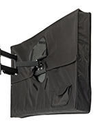 Outdoor television cover with storage pocket