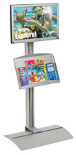 Distribute Marketing Material with this LCD Stand