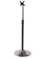 Black and Silver TV Mount Pole