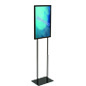 "14"" x 22"" Black Graphic Display Stand with Weighted Base"