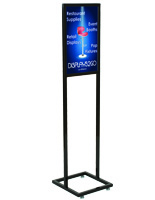 "14"" x 22"" Black Poster Stand with Top Insert"