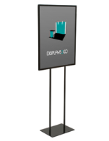 "22"" x 28"" Steel Poster Stand With Weighted Base"