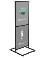 "Black Double Tier 22"" x 28"" Poster Stand"